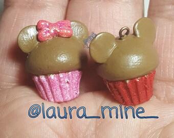 Chocolate mouse cupcake charms