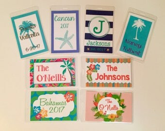 Tropical Luggage Tags- Beach Bag Tags- Buy 4, Get 1 Free