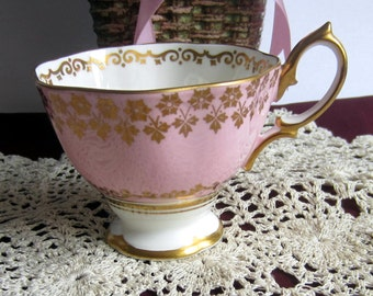 Royal Albert 8946 Pink and Gold Bone China Tea Cup Only - Made in England
