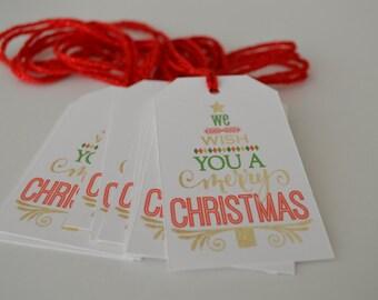We Wish You a Merry Christmas - Christmas Gift Tags