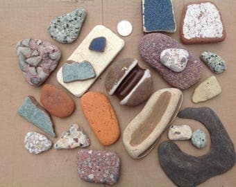 Beach stones Beach pottery Rock collecting Aquarium stones Terrarium stones Fairy gardens Bulk stones Beach stone art Aquarium supplies