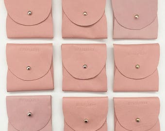 Leather coin purse in pink - 50% of sale goes directly to 'Breast Cancer Care WA'