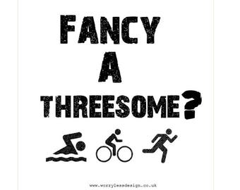 Triathlon Card - Fancy a threesome?