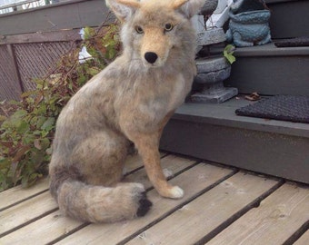 Made to Order Needle Felted Coyote Wolf Animal