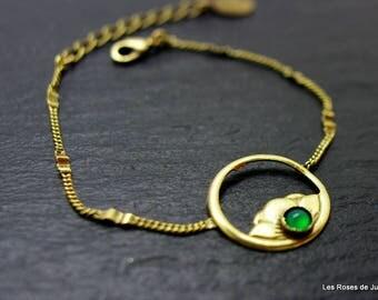 Art deco bracelet Peony