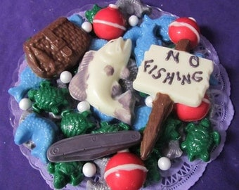 Fishing chocolates candy tray