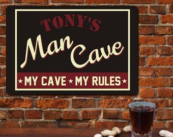 Man Cave Sign, Personalized Man Cave Sign, Man Cave Sign With Name