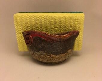 Sponge Holder - Pottery Sponge Holder - Handmade Stoneware Sponge Holder