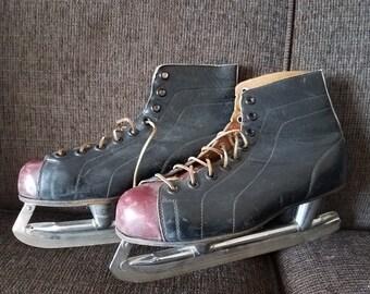Vintage CCM Special Men's Ice Skates Sz 9 1/2 Free Shipping