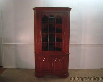 Colonial Brand New Solid Cherry Corner China Cabinet