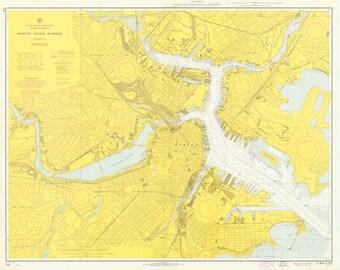Boston Inner Harbor Map 1966