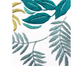 Sew & Saunders Botanical Hand Embroidery Hoop - Blue/ Green 10 Inch Hoop
