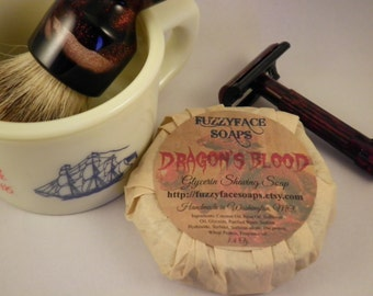DRAGONS BLOOD Glycerin Shaving Soap