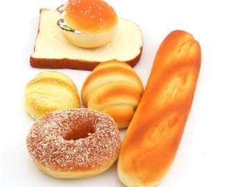 Pack of 6 Pieces Bread Cake Model Fake Bread Cake Simulation Food Model Decoration Food Shop Sample Display Props / Cafe / Restaurants