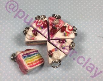 Rainbow Cake slices