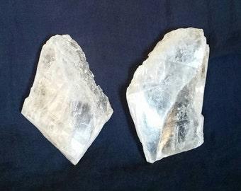 Crystal Heart Selenite Stone // TWIN FLAME Lovers Crystals // Raw Selenite Slabs // Crystal Healing  // Heart Chakra Balance // Soulmates