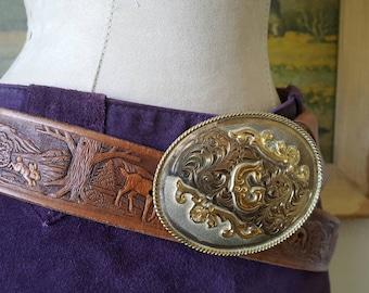 Vintage Mexico Silver Belt Buckle Etsy
