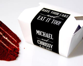 Cake Favor Box, Wedding Favor, To Go Box, Wedding Cake, Cake Box, Favor Box, Doughnut Box, Cookie Box, Candy Box, Dessert Box