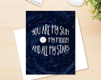 My Sun, My Moon Love Card