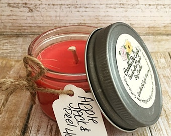 Apple Jack and Peel All Natural Soy Candle - Apple Candle - Apple Peel Candle - Soy Candle - Eco Friendly Candle - Home Decor - 4oz