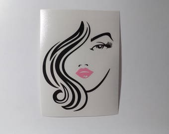 Hair Model vinyl decal, yeti decal,tumbler decal,laptop decal,decals, vinyl decals, window decals,truck decals,vehicle decals