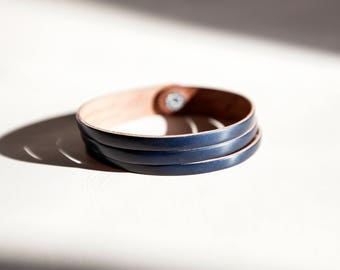 Shell cordovan bracelet