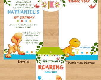Lil Dino  Dinosaur Birthday invitations * Come Celebrate with Us *