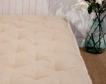 """SALE 20% OFF / All-Wool 4"""" Mattress / Shikibuton / Floor Bed / Japanese Bed / 40 x 72 x 4'' (101 x 183 x 10 cm)"""