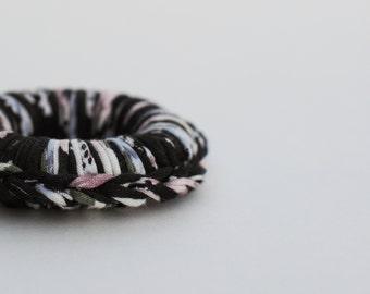 Dark Floral Organic Teething Ring
