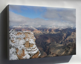 Canvas 24x36; Grand Canyon In Winter