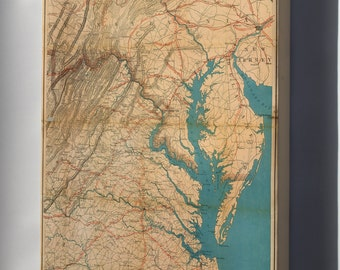 Canvas 24x36; Map Of Eastern Virginia, 1862