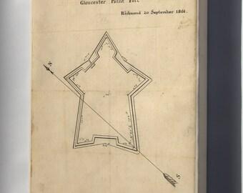 Canvas 24x36; Map Gloucester Point Fort Richmond Virginia 1861