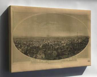 Canvas 24x36; View Of Los Angeles, California 1888