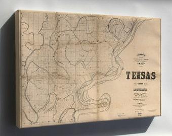 Canvas 24x36; Map Of Tensas Parish, Louisiana 1873