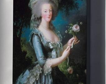 Canvas 16x24; Marie-Antoinette With The Rose By Elisabeth Vigee-Lebrun