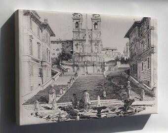 Canvas 16x24; Harry Fenn Keats' Home In Rome