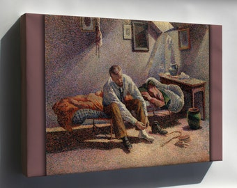 Canvas 16x24; Morning, Interior By Maximilien Luce C1890