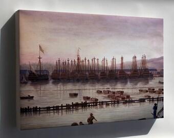 Canvas 16x24; Toulon Harbor France By Claude Joseph Vernet 18Th Cent