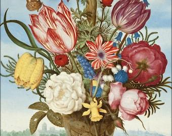 16x24 Poster; Ambrosius Bosschaert - Bouquet Of Flowers On A Ledge -
