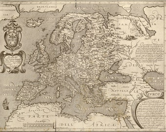 16x24 Poster; Map Of Europe 1600 In Latin