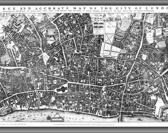 16x24 Poster; City Of London Ogilby And Morgan'S Map Of 1677