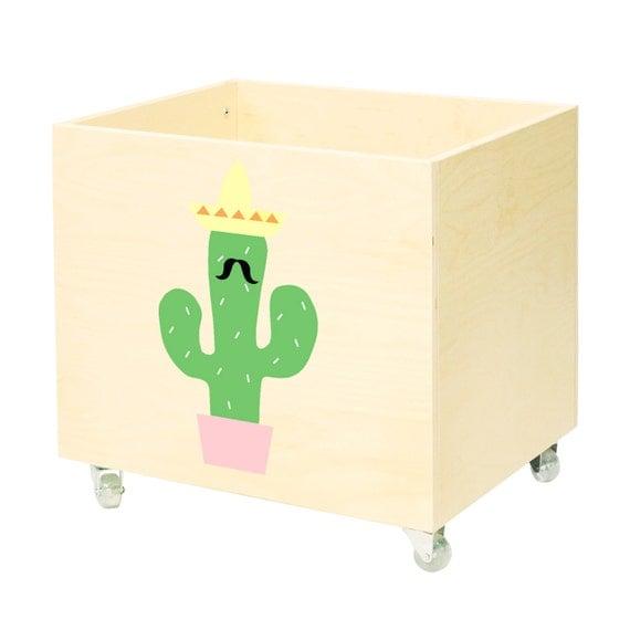 Big wooden toy chest nursery toy box toy bin storage toy