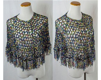 Hand Crochet Soft Material Multi Colored Shawl!! One Size