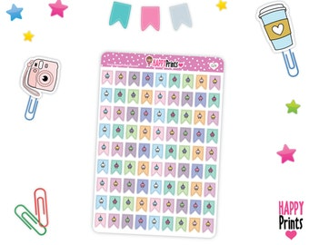 HP 029) -- Birthday Mini Flags Stickers
