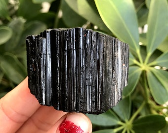 Crystalline Black Tourmaline Schorl, Reiki, New Age, Healing, Energy Healing, Healing Stones #967