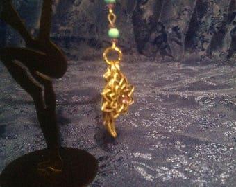 Turquoise,amethyst dangle earrings