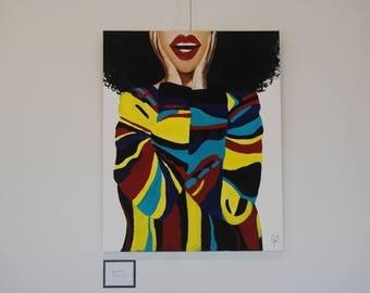 "Natural Hair Art - ""Sweat Her"" Canvas Print"