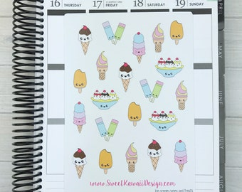Kawaii Ice Cream Stickers