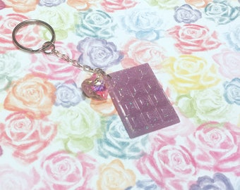 Purple Sparkle Chocolate Keychain !