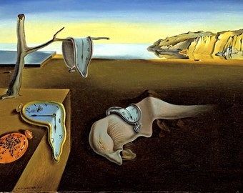 "Salvador Dali ""The Persistence of Memory"",  giclee 8.3X11.7 canvas print"